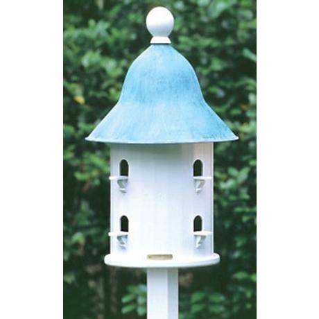 Good Directions Lazy Hill Farm Bell Blue Verde Bird House