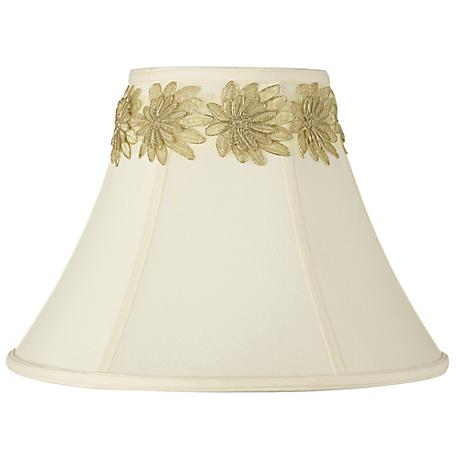 Creme Shade with Gold Flower Trim 7x16x12 (Spider)