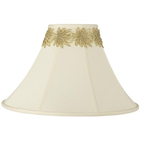 Bell Shade with Gold Flower Trim 7x20x13.75 (Spider)