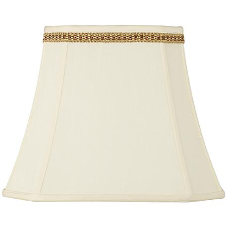 Rectangle Shade with Two Tone Braid Trim 10x16x13 (Spider)