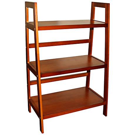 Jasper Walnut 3-Tier Ladder Shelf