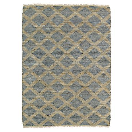Kaleen Kenwood KEN05-103 Slate Gray Lattice Jute Area Rug