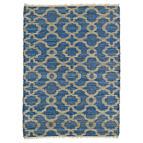 Kaleen Kenwood KEN07-17 Dark Blue Reversible Jute Area Rug