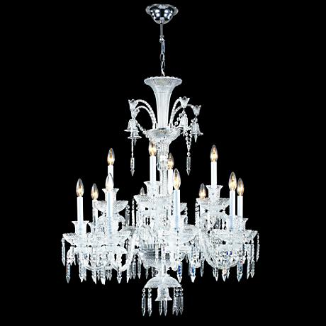 James Moder Le Chateau 12-Light Silver Crystal Chandelier