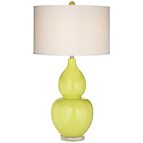 contempo lime green ceramic table lamp 7h782. Black Bedroom Furniture Sets. Home Design Ideas