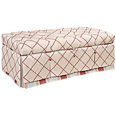 Jennifer Taylor Cornelia Embroidered Storage Bench