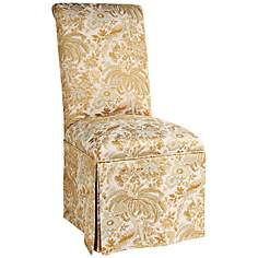 Jennifer Taylor St. Lucia Golden Floral Parson Chair