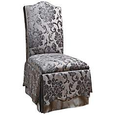 Jennifer Taylor La Rosa Gray Floral Parson Dining Chair