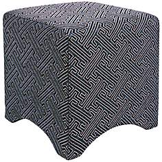 Jennifer Taylor Maze Black Fabric Table Ottoman