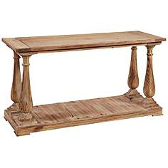 Baluster Natural Hardwood Console Table