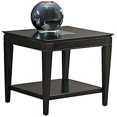 Mocchiato Inset Glass Cappuccino End Table