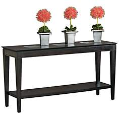 Mocchiato Inset Glass Cappuccino Console Table