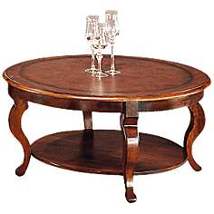 Pontevecchio Round Mahogany Hardwood Cocktail Table