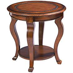 Pontevecchio Round Mahogany Hardwood End Table
