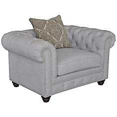 Shea Linen Stone Accent Chair