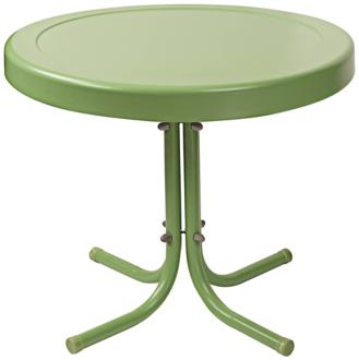 Griffith Oasis Green Powdercoat Round Outdoor Side Table (7J725) 7J725