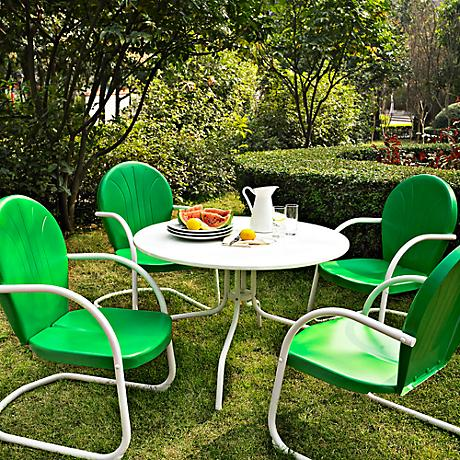 Griffith 5-Piece Grasshopper Green Outdoor Dining Set