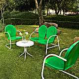 Griffith 4-Piece Grasshopper Green Outdoor Seating Set