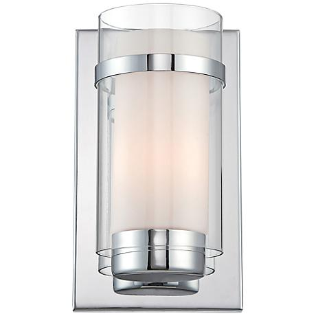 "Lite Source Tulio 10"" High Contemporary Glass Wall Sconce"