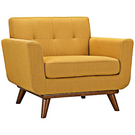Engage Citrus Tufted Modern Armchair