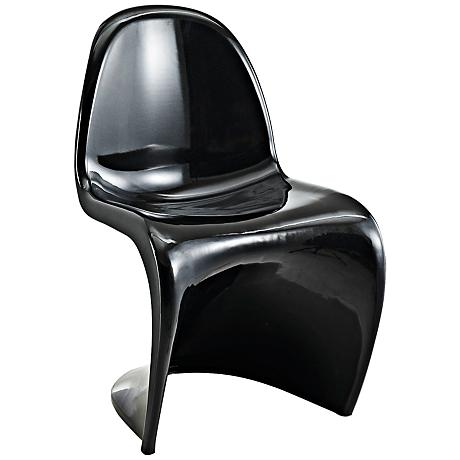 Slither Molded Black Dining Side Chair