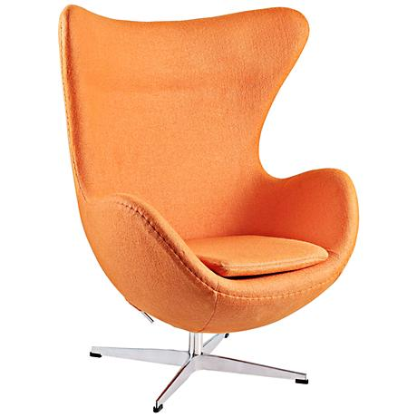 Glove Modern Orange Fabric Lounge Chair