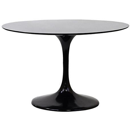 Lippa high gloss black round dining table 7j966 www for 11x table