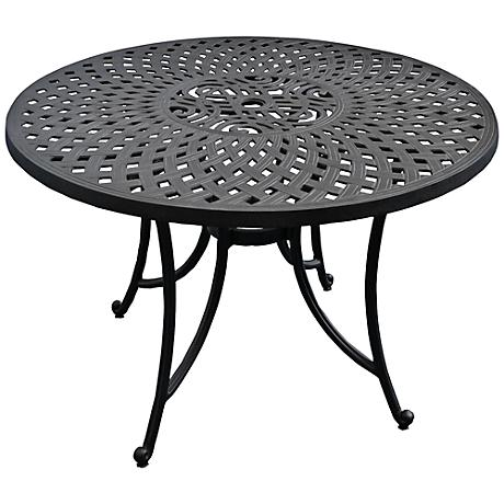 Sedona Charcoal Black Round Outdoor Dining Table