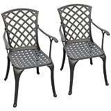 Sedona Charcoal Black Outdoor Highback Armchair Set of 2