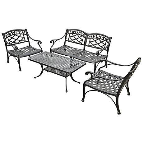 Sedona 4-Piece Charcoal Outdoor Conversation Seating Set
