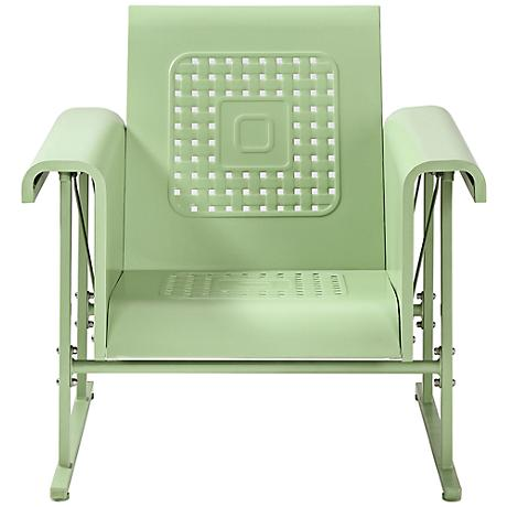 Veranda Oasis Green Retro Outdoor Single Chair Glider