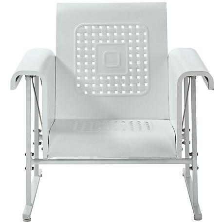 Veranda Alabaster White Retro Outdoor Single Chair Glider