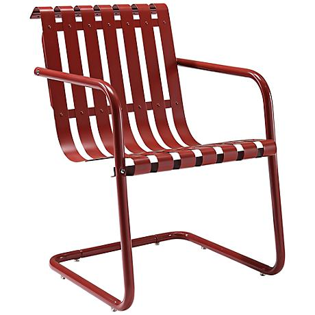 Gracie Coral Red Outdoor Retro Spring Chair
