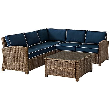 Biltmore 4-Piece Outdoor Navy Sectional Seating Set