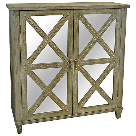 Crestview Prairie View 2-Door Rustic Accent Chest