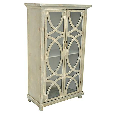 Crestview Aspen Distressed Gray 2-Door Tall Chest