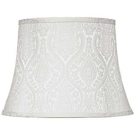 White Paisley Drum Lamp Shade 13x14x10 (Spider)