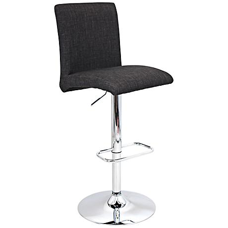 Tintori Charcoal Modern Adjustable Height Barstool
