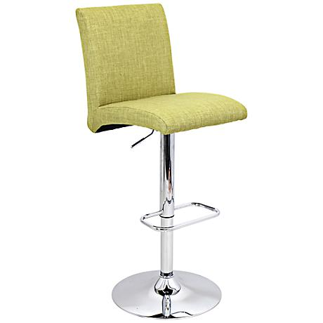 Tintori Vintage Green Modern Adjustable Height Barstool