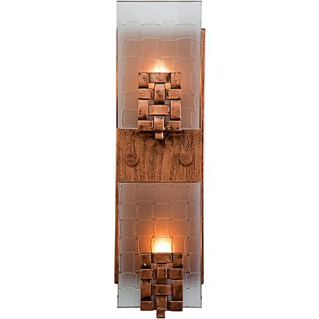 "Varaluz Dreamweaver 15""H 2-Light Ice Crystal Bath Light"