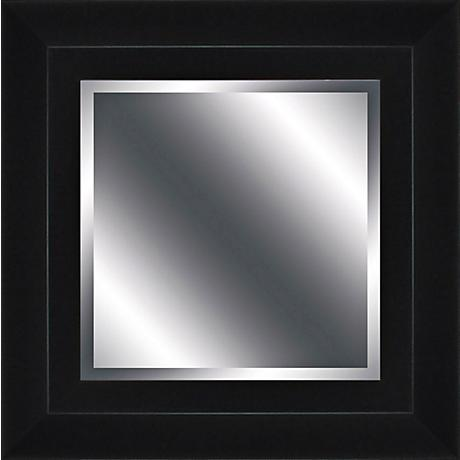 "Ogier Black 16"" Square Wall Mirror"