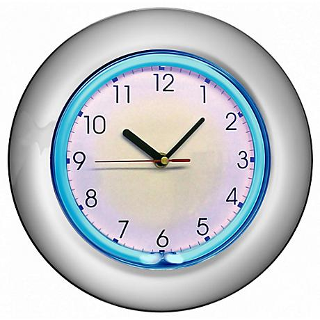"Nolta Chrome 12"" Round Neon Wall Clock"