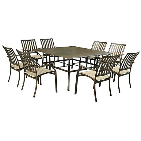 Panama Jack Island Breeze 9-Piece Patio Square Dining Set