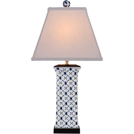 galway blue and white porcelain table lamp 7n496 www. Black Bedroom Furniture Sets. Home Design Ideas
