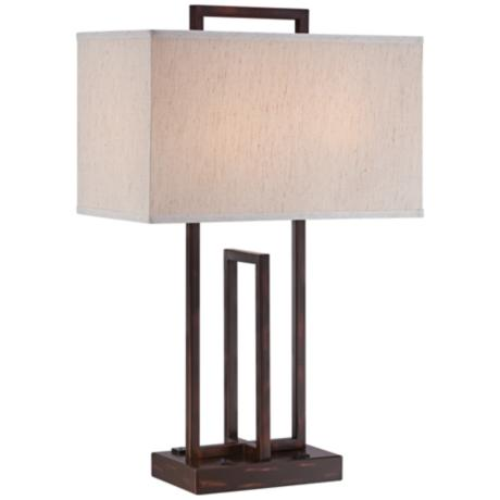 lite source farren 2 outlet dark bronze table lamp 7n603 www. Black Bedroom Furniture Sets. Home Design Ideas