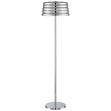 Lite Source Venice 3-Light Chrome Floor Lamp