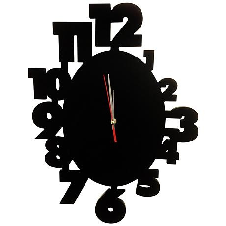 "Laketon Black 18"" Wide Wall Clock"