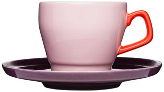 POP Pink, Red and Purple Stoneware Cup with Saucer (7P305) 7P305