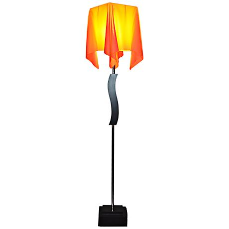 Allesta Floor Lamp with Nacarat Drape Shade