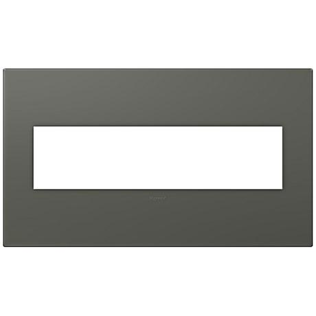 Adorne Soft Touch Moss Gray4-Gang Wall Plate